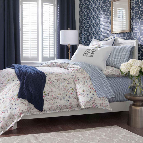 Chloe Floral Bedding by Peacock Alley with Navy | Fig Linens and Home