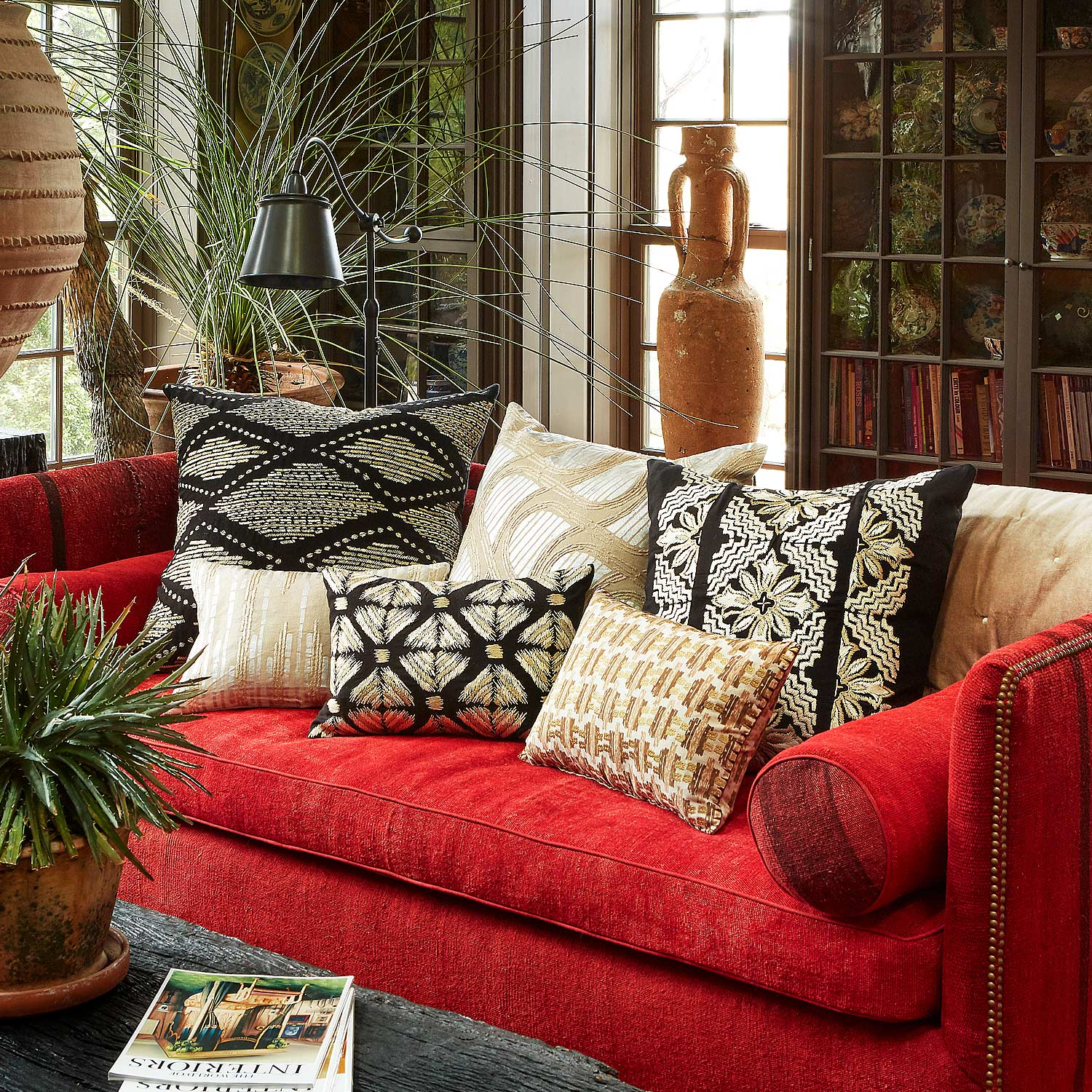 Shop Black and Neutral Decorative Pillows by John Robshaw  at Fig Linens