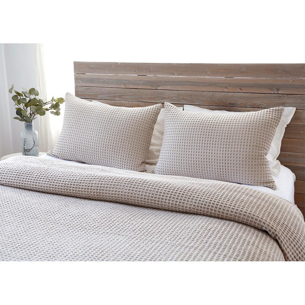 Pom Pom at Home - Zuma Cream Waffle Weave Blanket Collection | Fig Linens