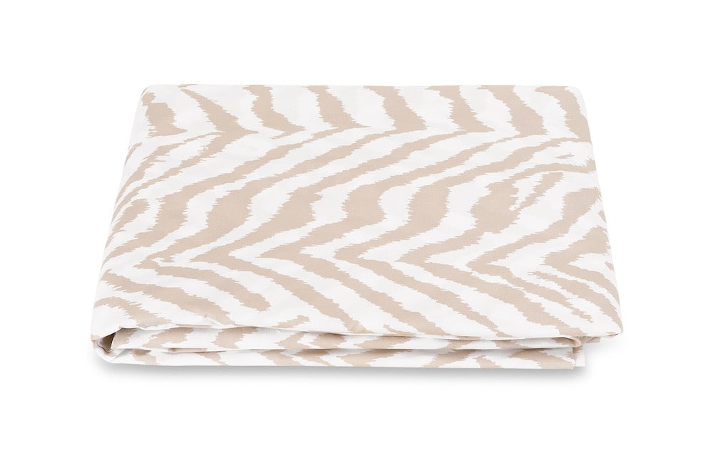 Quincy Sand Fitted Sheet | Matouk Schumacher at Fig Linens