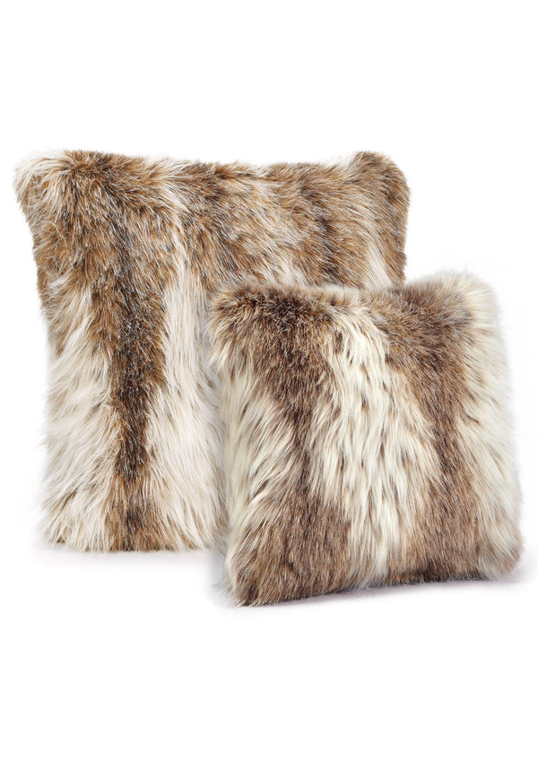 Russian Lynx Faux Fur Pillows Sizes