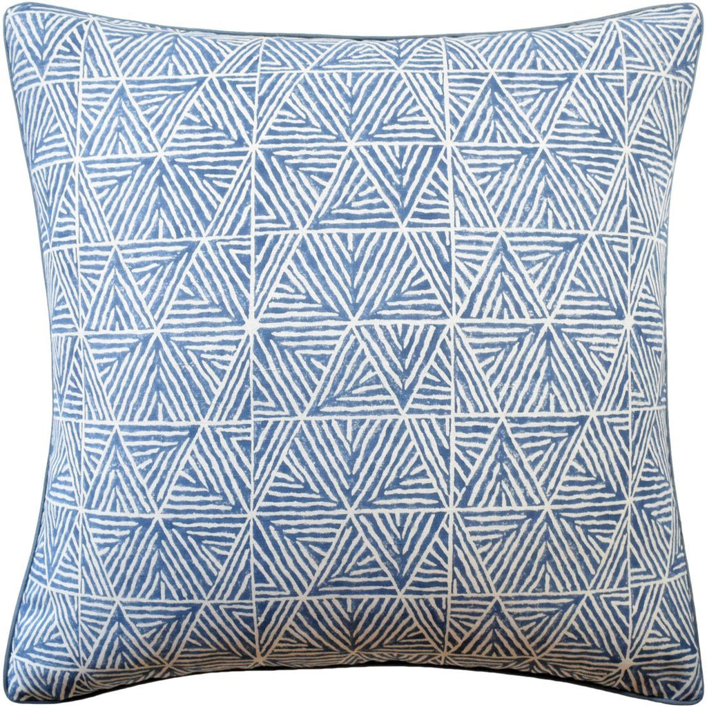Mombasa Navy Blue Decorative Pillow | Fig Linens
