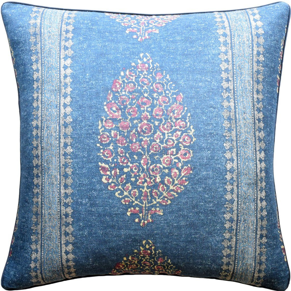 Chappana Navy and Red Pillow by Ryan Studio | Fig Linens and Home