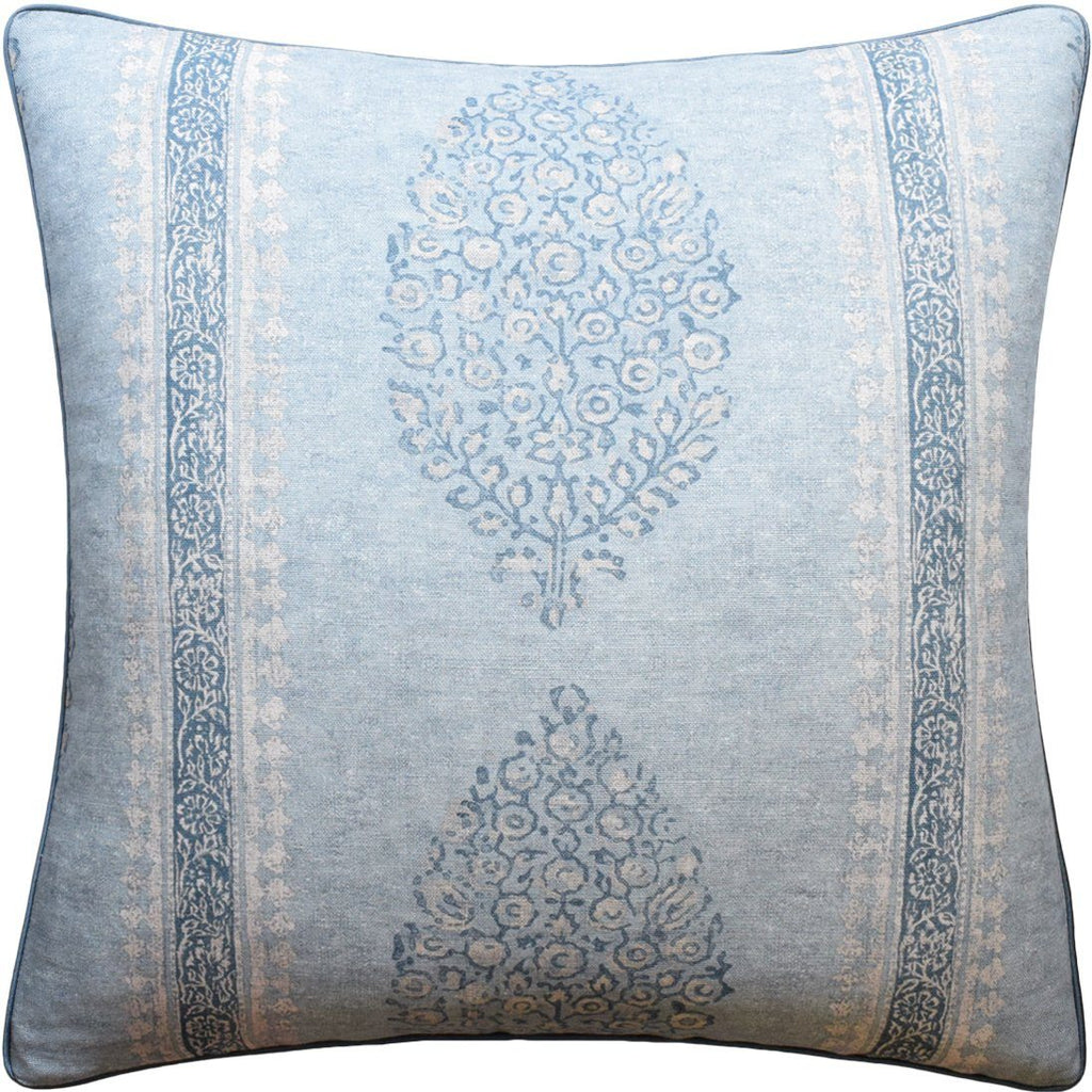 Chappana Slate Blue Pillow - Ryan Studio at Fig Linens
