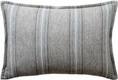 Ryan Studio Belmont Stripe Verdigris Lumbar Pillow at Fig Linens