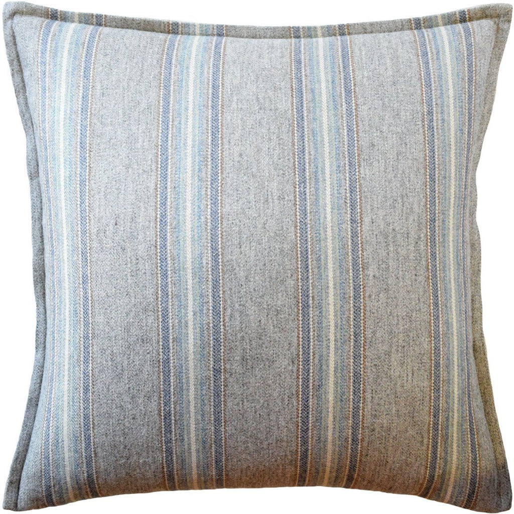 Ryan Studio Belmont Stripe Verdigris Pillow at Fig Linens