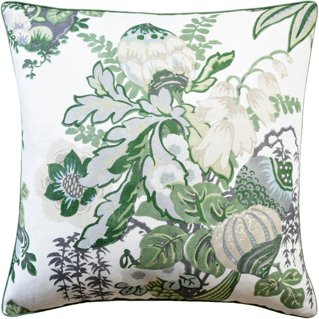Ryan Studio Fairbanks Green and White Pillow | Fig Linens and Home