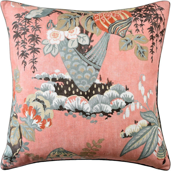 Fairbanks Salmon Pillow by Ryan Studio
