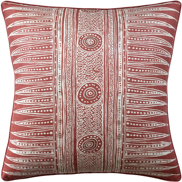 Ryan Studio Indian Zag Madder Red Pillow - Fig Linens and Home
