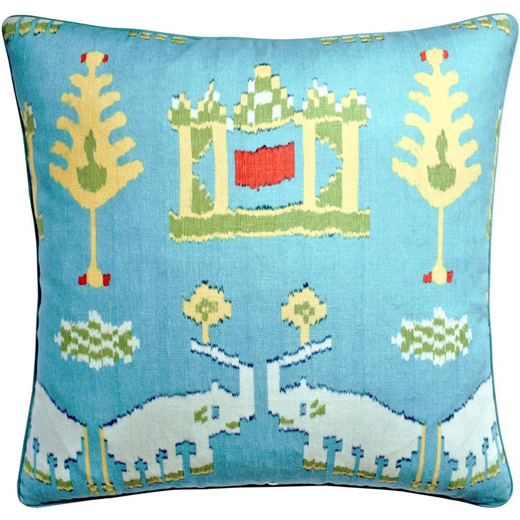 Kingdom Parade Turquoise Throw Pillow | Ryan Studio from Thibaut Fabric