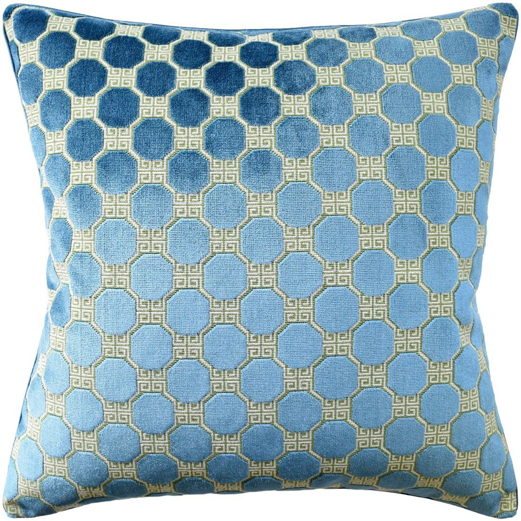Octavia Peacock Pillow by Ryan Studio at Fig Linens | Schumacher Fabric