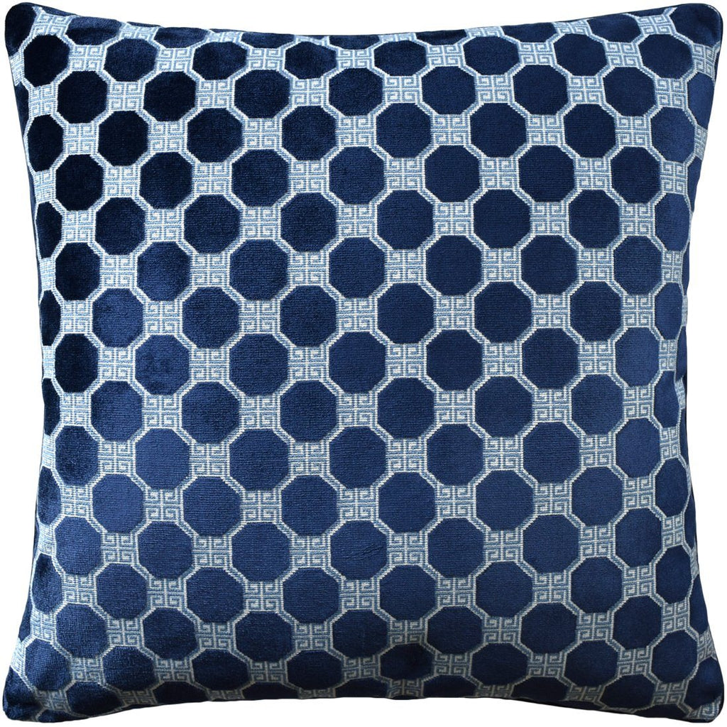 Octavia Sapphire Pillow by Ryan Studio at Fig Linens | Schumacher Fabric
