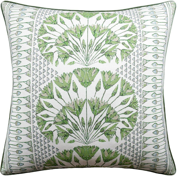 Ryan Studio Cairo Pillow - Green and White | Fig Linens | Thibaut