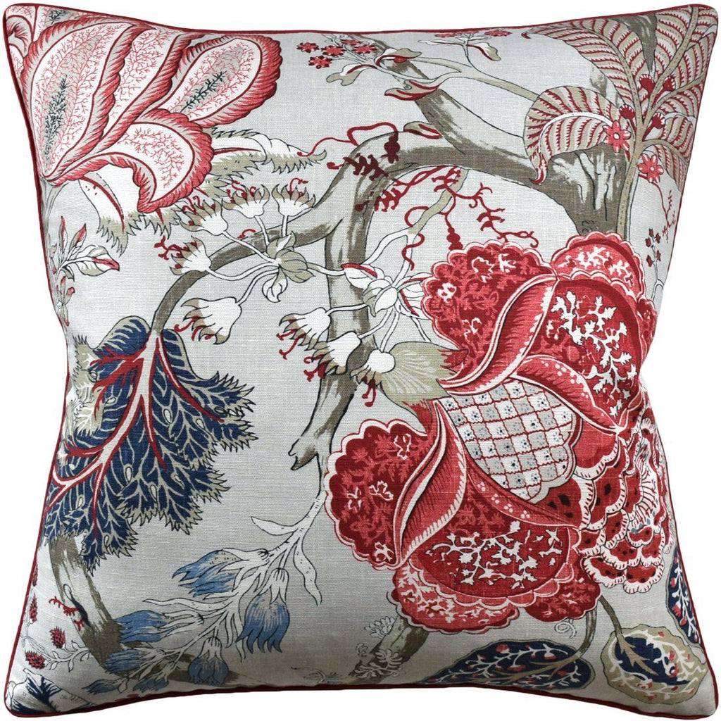 Kalamkari Red and Blue Throw Pillow | Ryan Studio at Fig Linens