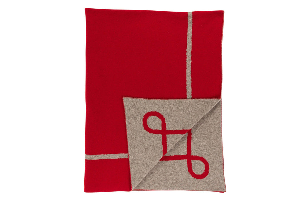 Crimson Cashmere Throw - Saved NY
