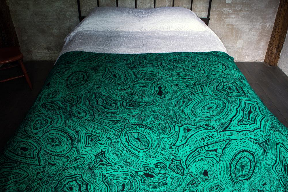 Saved NY Cashmere Malachite Blanket