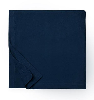 Allegra Navy Blanket by Sferra | Fig Linens and Home