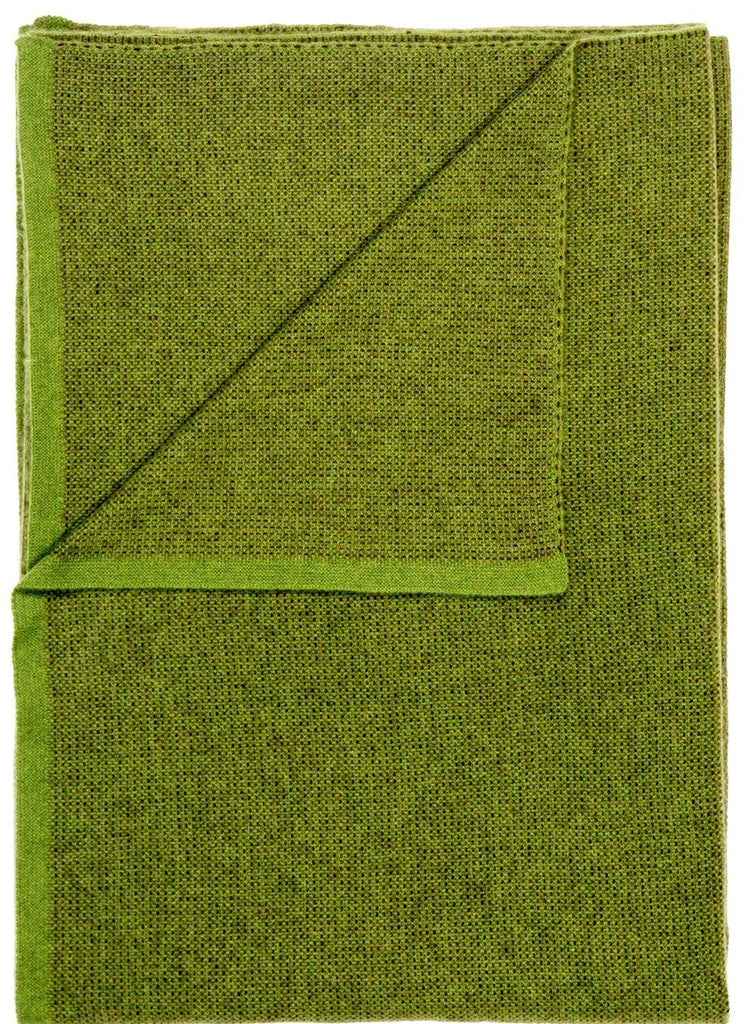 Saved New York Moss Green Throw Folded - Fig Linens