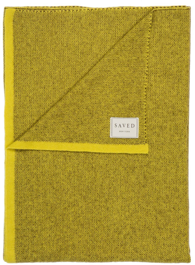 Saved New York Moss Sun Throw Folded - Fig Linens