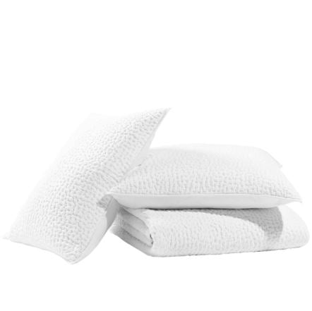 Bahari Bright White Coverlet and Shams by John Robshaw - Fig Linens and Home
