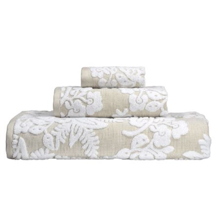 Pasak Linen / White Towel Collection by John Robshaw