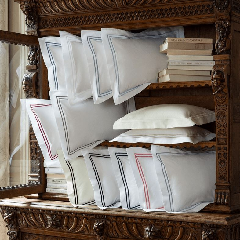 Fig Linens - Sferra Bedding - Grand Hotel Shams with embroidery