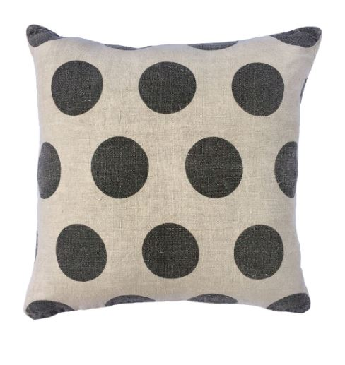 Polka Dots - Stone Washed Linen Pillow by Sugarboo