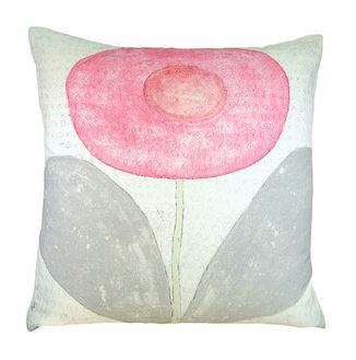 Happy Flower Pillow by Sugarboo