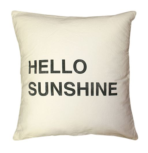 Hello Sunshine Pillow by Sugarboo