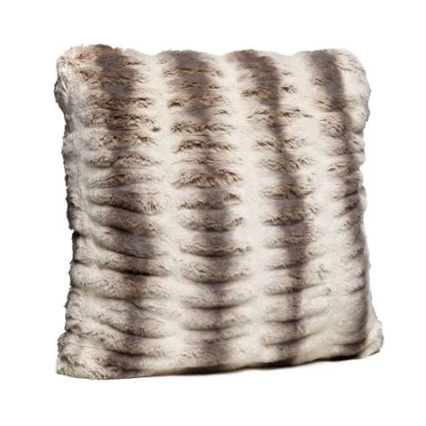 Truffle Chinchilla Faux Fur Pillows