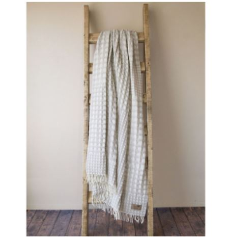 Waffle Weave Throw Beige by Lands Downunder
