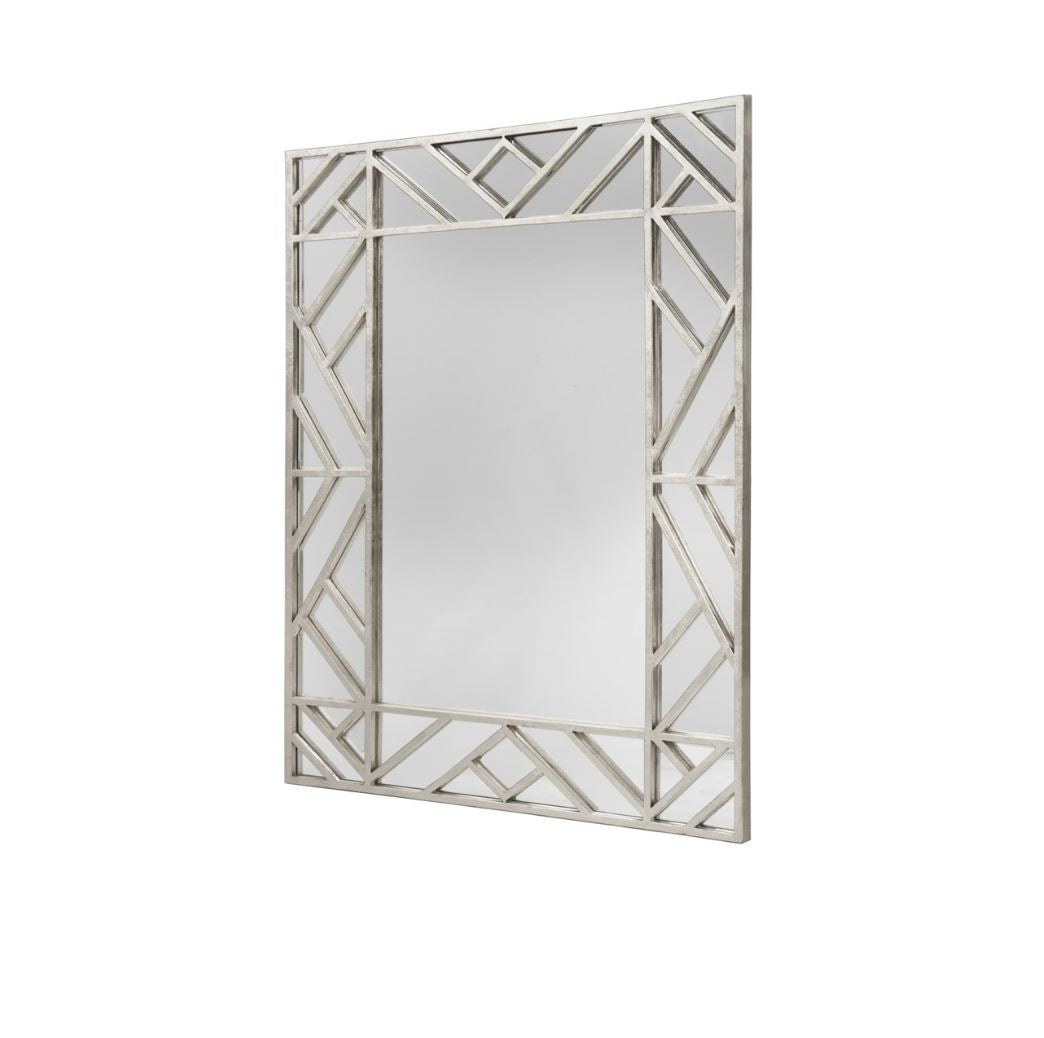 Meghan Mirror in Silver Leaf