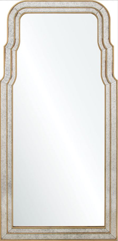 Venezia Gold Leaf Queen Anne Wall Mirror by Bunny Williams | Fig Linens