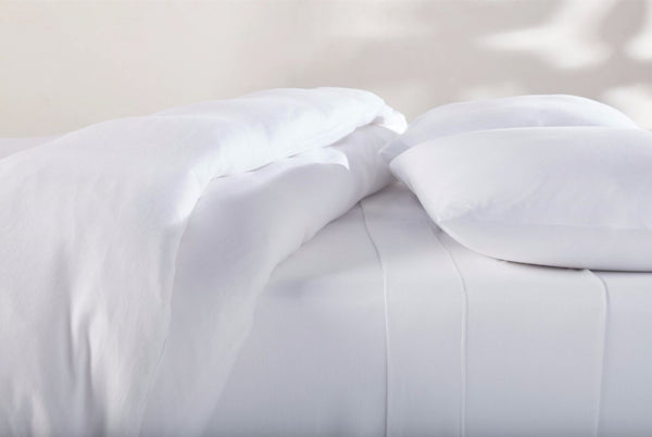 Alpine White Organic Jersey Pillowcases by Coyuchi | Fig Linens