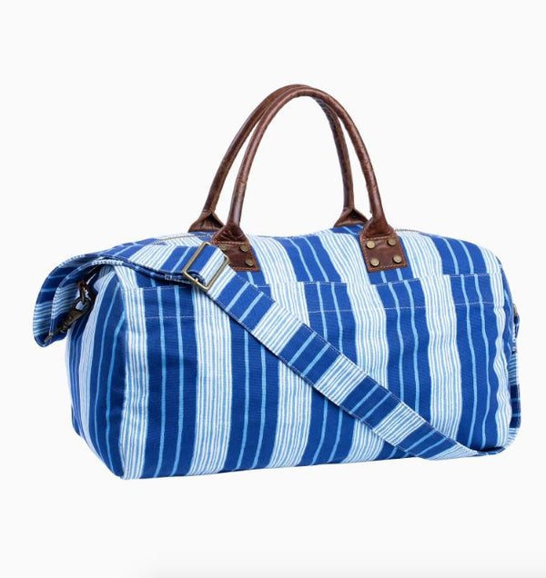Vintage Stripe Canvas Duffle Bag by John Robshaw | Fig Linens