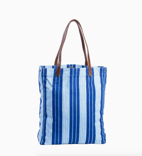 Vintage Stripe Canvas Tote Bag by John Robshaw | Fig Linens