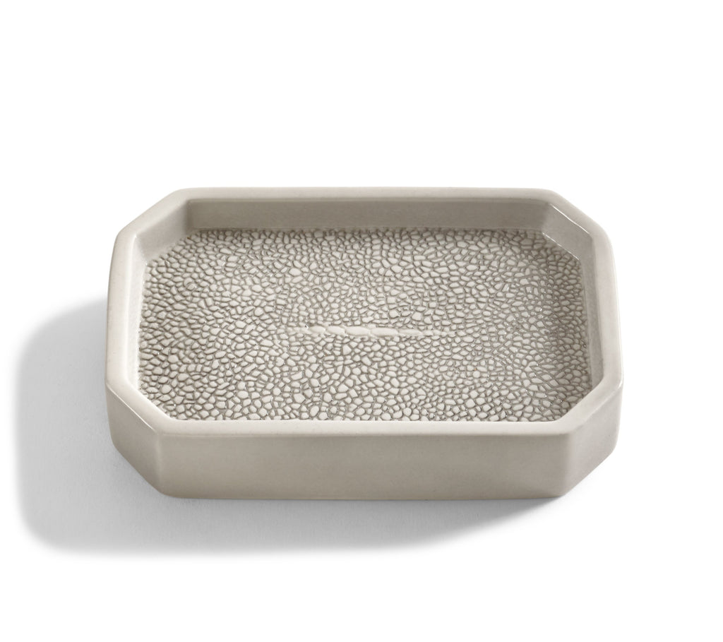Kassatex Shagreen Soap Dish - Fig LInens