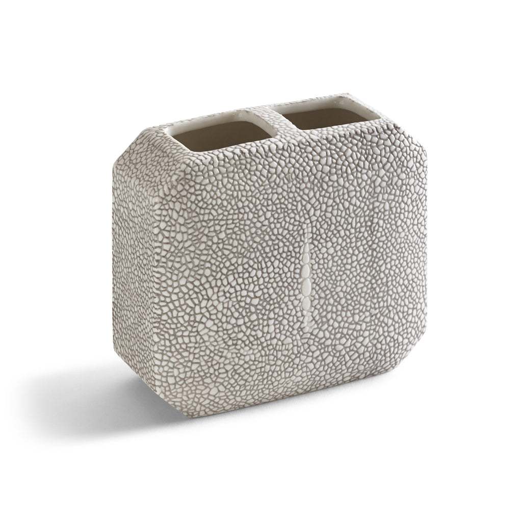 Kassatex Shagreen Toothbrush Holder