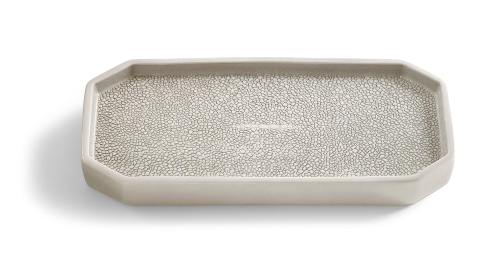 Kassatex Shagreen Tray - Fig Linens