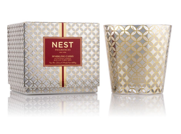 Sparkling Cassis 3-Wick Candle by Nest - Fig Linens
