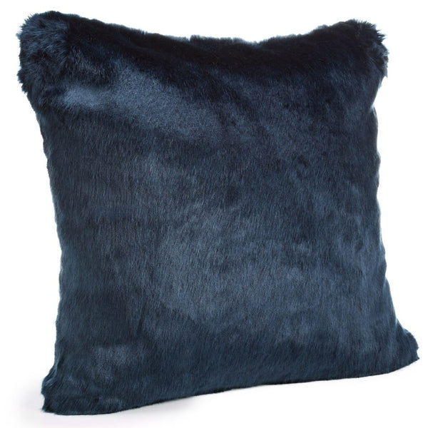 Steel Blue Mink Faux Fur Pillows