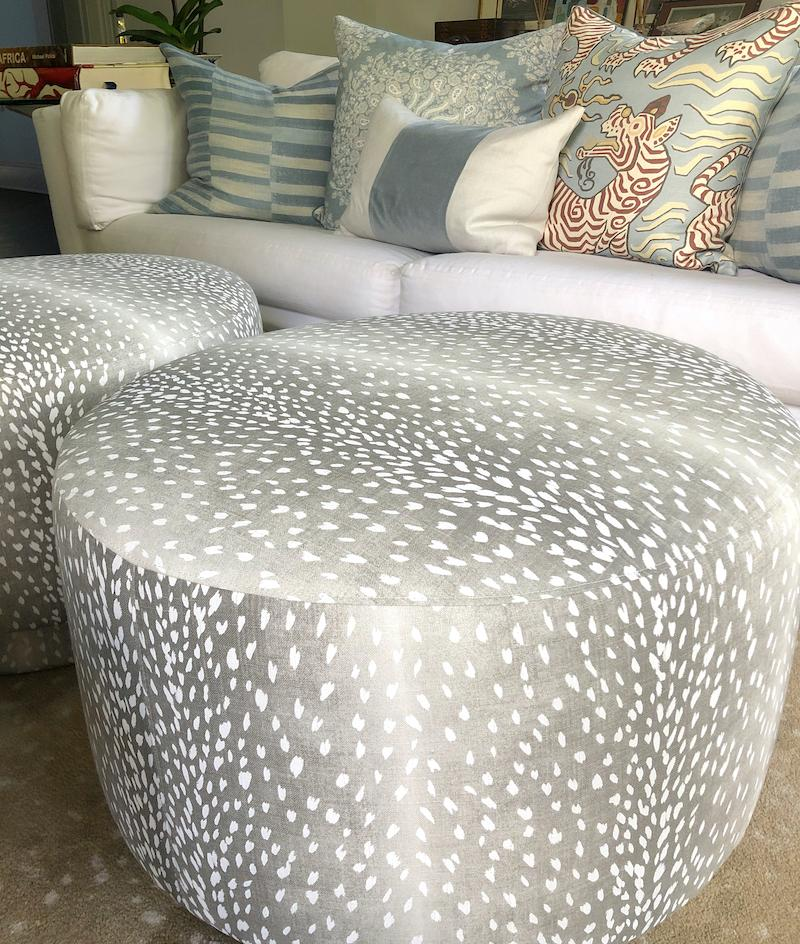 Sully Swivel Ottoman in Deer Shadow | Fig Linens