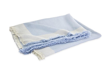 Suri Wedgwood Blue Alpaca Throw | Matouk at Fig Linens