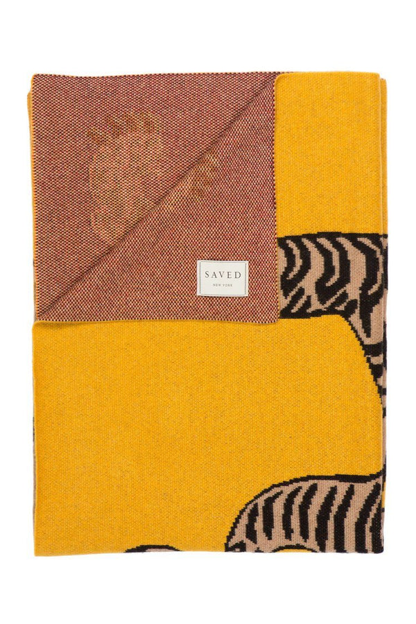Fig Linens - Saved NY Tiger Rug Cashmere Throw