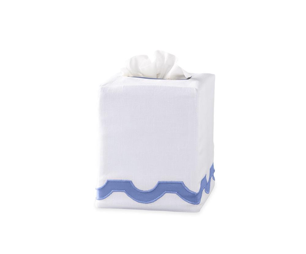 Mirasol Azure Tissue Cover | Matouk at Fig Linens