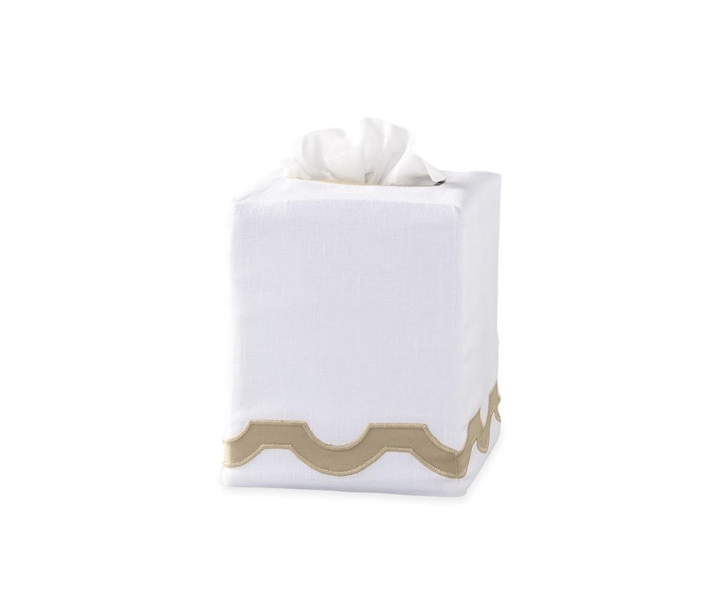 Mirasol Champagne Tissue Cover | Matouk at Fig Linens