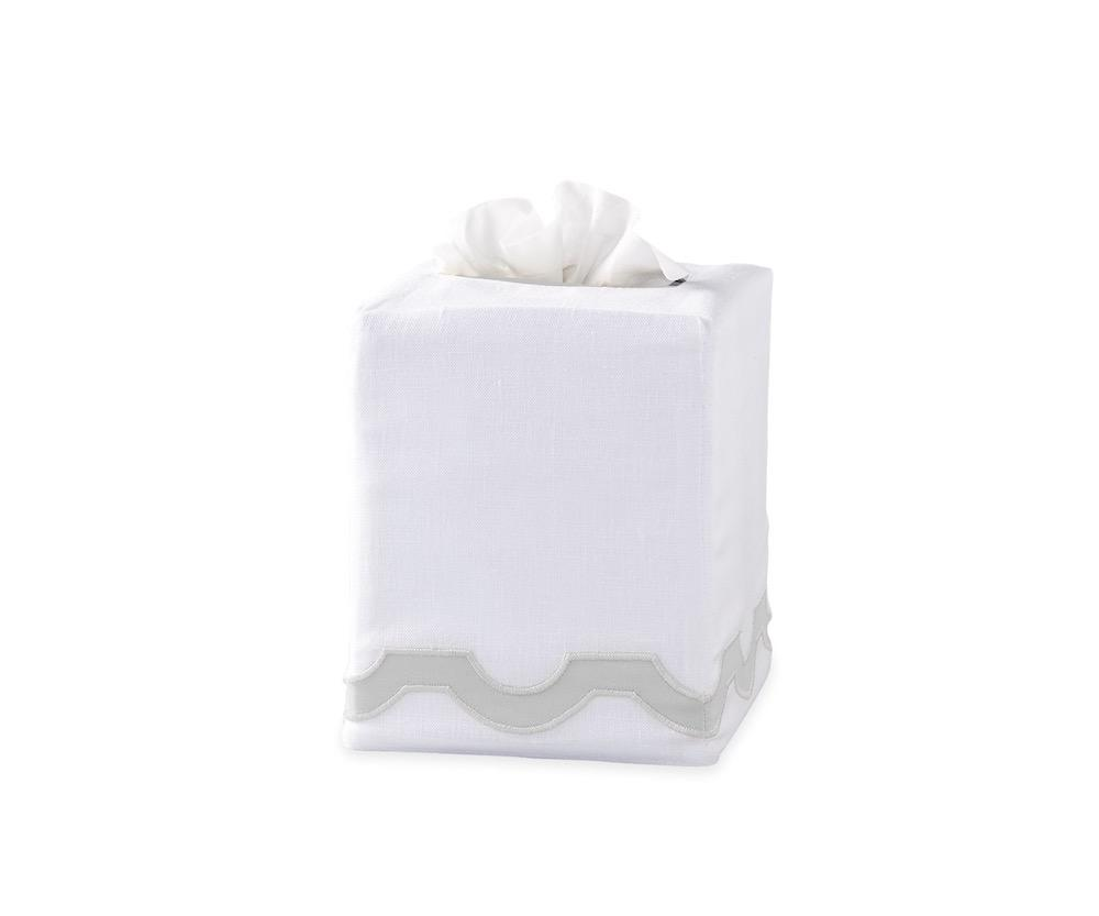 Mirasol Silver Tissue Cover | Matouk at Fig Linens