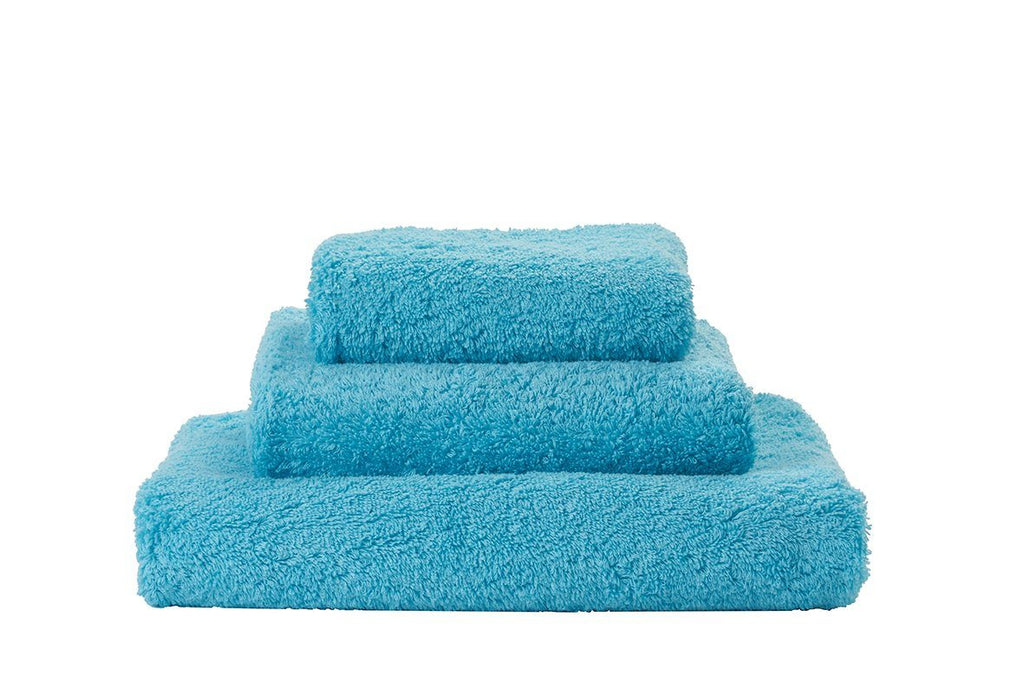 Abyss Super Pile Turquoise Towels - Fig Linens