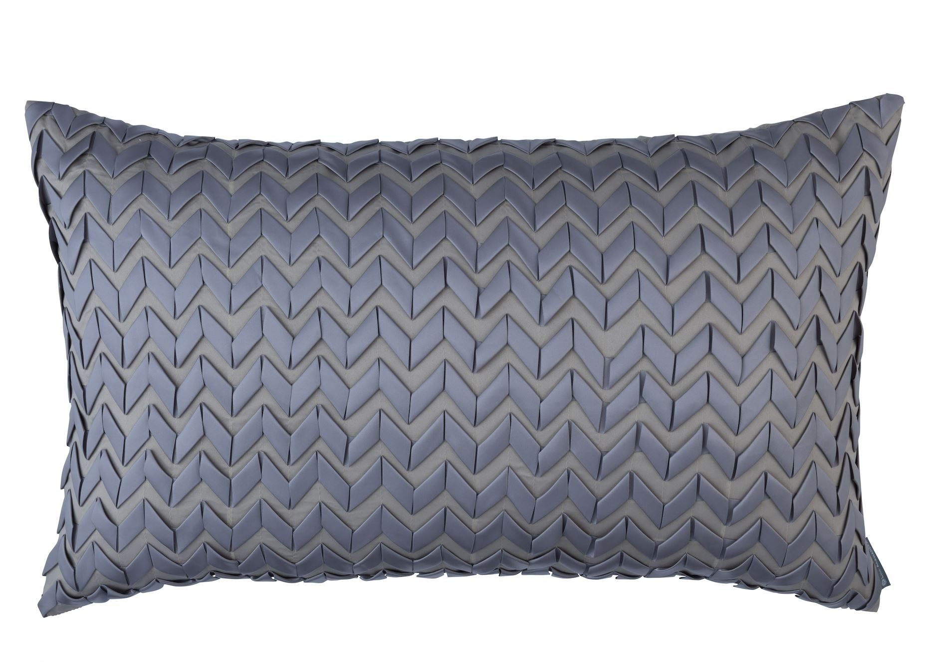 Ultra Pewter 18x30 Lumbar Pillow by Lili Alessandra