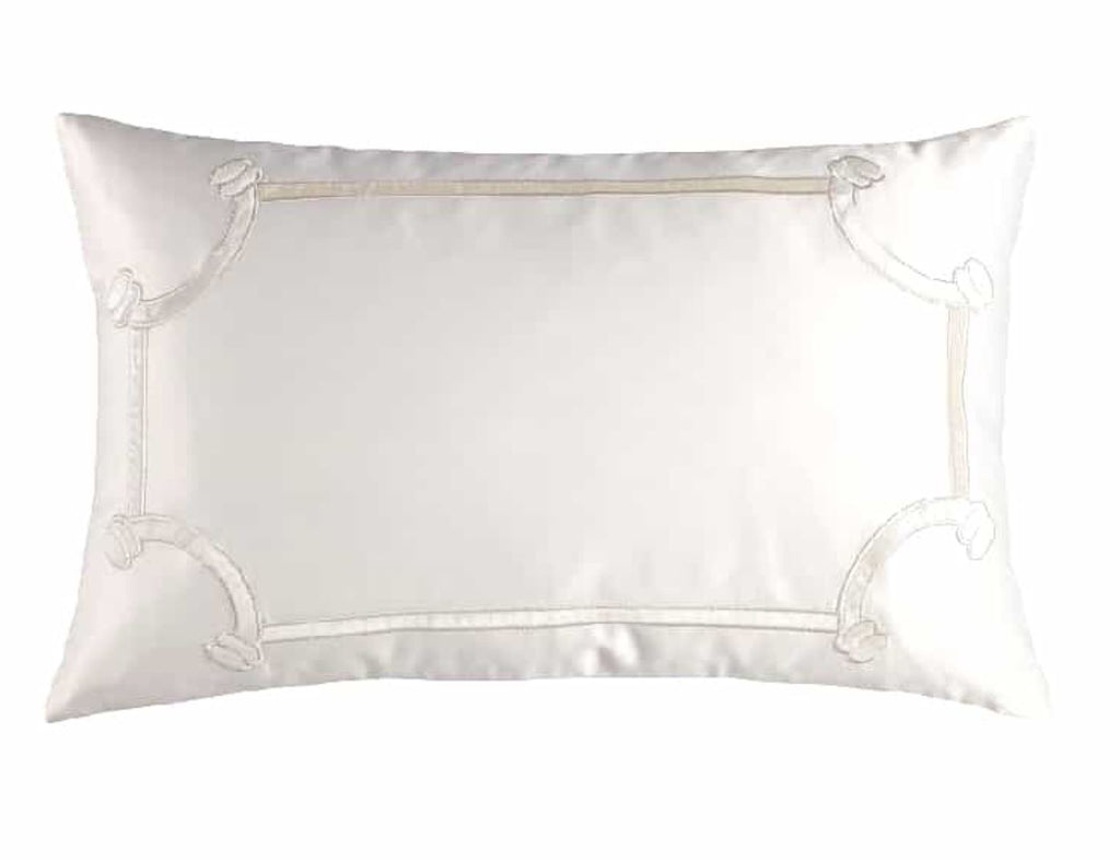 Lili Alessandra Vendome Ivory King Pillow